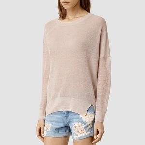 All Saints Row Linen Sweater